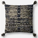 """ED Ellen DeGeneres Crafted by Loloi Woven  Pillows 18"""" X 18"""" Pillow Cover w/Down  - Item Number: DSETP4045GYMLPIL1"""