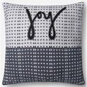 """ED Ellen DeGeneres Crafted by Loloi Woven  Pillows 18"""" X 18"""" Pillow Cover w/Down  - Item Number: DSETP4048BLWHPIL1"""