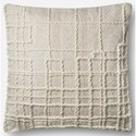 """ED Ellen DeGeneres Crafted by Loloi Woven  Pillows 22"""" X 22"""" Pillow Cover w/Down  - Item Number: DSETP4050NA00PIL3"""