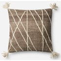 """ED Ellen DeGeneres Crafted by Loloi Woven  Pillows 18"""" X 18"""" Pillow Cover w/Down  - Item Number: DSETP4051NA00PIL1"""