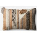 "ED Ellen DeGeneres Crafted by Loloi Woven  Pillows 13"" X 21"" Pillow Cover w/Down  - Item Number: DSETP4054ML00PIL5"