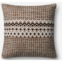 "ED Ellen DeGeneres Crafted by Loloi Woven  Pillows 22"" X 22"" Pillow Cover w/Down  - Item Number: DSETP4056NABLPIL3"