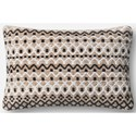 "ED Ellen DeGeneres Crafted by Loloi Woven  Pillows 13"" X 21"" Pillow Cover w/Down  - Item Number: DSETP4056NABLPIL5"