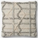 "ED Ellen DeGeneres Crafted by Loloi Woven  Pillows 18"" X 18"" PillowCover w/Down  - Item Number: DSETP4060NAGYPIL1"