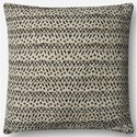 "ED Ellen DeGeneres Crafted by Loloi Woven  Pillows 22"" X 22"" Pillow Cover w/Down  - Item Number: DSETP4062BEBLPIL3"
