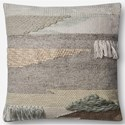 "ED Ellen DeGeneres Crafted by Loloi Woven  Pillows 22"" X 22"" Pillow Cover w/Down  - Item Number: DSETP4063ML00PIL3"