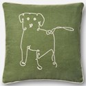 "ED Ellen DeGeneres Crafted by Loloi Woven  Pillows 18"" X 18"" Pillow Cover w/Down  - Item Number: DSETP4071GR00PIL1"