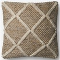 "ED Ellen DeGeneres Crafted by Loloi Woven  Pillows 18"" X 18"" Pillow Cover w/Down  - Item Number: DSETP4074BE00PIL1"