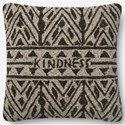 "ED Ellen DeGeneres Crafted by Loloi Woven  Pillows 22"" X 22"" Pillow Cover w/Down  - Item Number: DSETP4078BRBEPIL3"