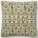 "ED Ellen DeGeneres Crafted by Loloi Woven  Pillows 22"" X 22"" Pillow Cover w/Down  - Item Number: DSETP4078GRIVPIL3"