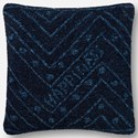 "ED Ellen DeGeneres Crafted by Loloi Woven  Pillows 22"" X 22"" Pillow Cover w/Down  - Item Number: DSETP4079NV00PIL3"