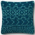 "ED Ellen DeGeneres Crafted by Loloi Woven  Pillows 22"" X 22"" Pillow Cover w/Down  - Item Number: DSETP4080TE00PIL3"