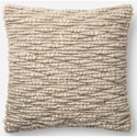 "ED Ellen DeGeneres Crafted by Loloi Woven  Pillows 18"" X 18"" Pillow Cover w/Down  - Item Number: DSETP4081NA00PIL1"