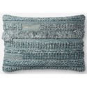 "ED Ellen DeGeneres Crafted by Loloi Woven  Pillows 16"" X 26"" Pillow Cover w/Down  - Item Number: DSETP4083BB00PI15"