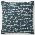 """ED Ellen DeGeneres Crafted by Loloi Woven  Pillows 18"""" X 18"""" Pillow Cover w/Down  - Item Number: DSETP4085BBWHPIL1"""