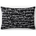 "ED Ellen DeGeneres Crafted by Loloi Woven  Pillows 13"" X 21"" Pillow Cover w/Down  - Item Number: DSETP4085BLWHPIL5"