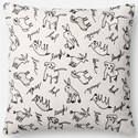 "ED Ellen DeGeneres Crafted by Loloi Woven  Pillows 18"" X 18"" Pillow Cover w/Down  - Item Number: DSETP4085WHBLPIL1"