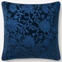 "ED Ellen DeGeneres Crafted by Loloi Woven  Pillows 18"" X 18"" Pillow Cover w/Down  - Item Number: DSETP4087NV00PIL1"