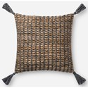"""ED Ellen DeGeneres Crafted by Loloi Woven  Pillows 18"""" X 18"""" Pillow Cover w/Down  - Item Number: DSETP4088NAGYPIL1"""