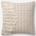 "ED Ellen DeGeneres Crafted by Loloi Woven  Pillows 22"" X 22"" Pillow Cover w/Down  - Item Number: DSETP4089NAGYPIL3"