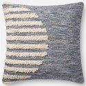 "ED Ellen DeGeneres Crafted by Loloi Woven  Pillows 22"" X 22"" Pillow Cover w/Down  - Item Number: DSETP4090NABBPIL3"
