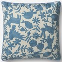 """ED Ellen DeGeneres Crafted by Loloi Woven  Pillows 22"""" X 22"""" Pillow Cover - Item Number: P012P4043LB00PIL3"""