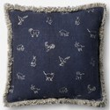 """ED Ellen DeGeneres Crafted by Loloi Woven  Pillows 18"""" X 18"""" Pillow Cover - Item Number: P030P4047NV00PIL1"""