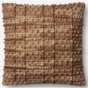 "ED Ellen DeGeneres Crafted by Loloi Woven  Pillows 22"" X 22"" Pillow Cover - Item Number: P083P4055NA00PIL3"