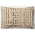 "ED Ellen DeGeneres Crafted by Loloi Woven  Pillows 13"" X 21"" Cover Only  Pillow - Item Number: P090P4027IVSLPIL5"