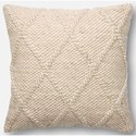 "ED Ellen DeGeneres Crafted by Loloi Woven  Pillows 22"" X 22"" Cover Only Pillow - Item Number: P125P4013BE00PIL3"