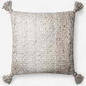 "ED Ellen DeGeneres Crafted by Loloi Woven  Pillows 22"" X 22"" Pillow Cover - Item Number: P138P4065IVCTPIL3"