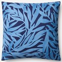 """ED Ellen DeGeneres Crafted by Loloi Woven  Pillows 18"""" X 18"""" Pillow Cover - Item Number: P149P4072NVLBPIL1"""