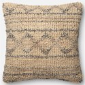 "ED Ellen DeGeneres Crafted by Loloi Woven  Pillows 22"" X 22"" Cover w/Poly  Pillow - Item Number: PSETP4026BBNAPIL3"