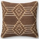"ED Ellen DeGeneres Crafted by Loloi Woven  Pillows 22"" X 22"" Cover w/Poly Pillow - Item Number: PSETP4028BRMLPIL3"