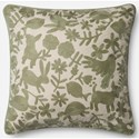 """ED Ellen DeGeneres Crafted by Loloi Woven  Pillows 22"""" X 22"""" Pillow Cover w/Poly - Item Number: PSETP4043SG00PIL3"""