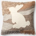 "ED Ellen DeGeneres Crafted by Loloi Woven  Pillows 22"" X 22"" Pillow Cover w/Poly - Item Number: PSETP4053ML00PIL3"