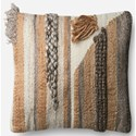 "ED Ellen DeGeneres Crafted by Loloi Woven  Pillows 22"" X 22"" Pillow Cover w/Poly - Item Number: PSETP4054ML00PIL3"