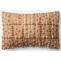 "ED Ellen DeGeneres Crafted by Loloi Woven  Pillows 13"" X 21"" Pillow Cover w/Poly - Item Number: PSETP4055NA00PIL5"