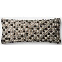 "ED Ellen DeGeneres Crafted by Loloi Woven  Pillows 13"" X 35"" Pillow Cover w/Poly - Item Number: PSETP4058GYMLPI29"