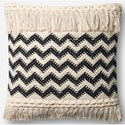 """ED Ellen DeGeneres Crafted by Loloi Woven  Pillows 18"""" X 18"""" Pillow Cover w/Poly - Item Number: PSETP4059NABLPIL1"""