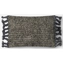 "ED Ellen DeGeneres Crafted by Loloi Woven  Pillows 13"" X 21"" PillowCover w/Poly - Item Number: PSETP4061GYGYPIL5"