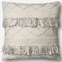"""ED Ellen DeGeneres Crafted by Loloi Woven  Pillows 22"""" X 22"""" PillowCover w/Poly - Item Number: PSETP4066NAGYPIL3"""
