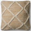 "ED Ellen DeGeneres Crafted by Loloi Woven  Pillows 18"" X 18"" Pillow Cover w/Poly - Item Number: PSETP4074IV00PIL1"