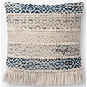 """ED Ellen DeGeneres Crafted by Loloi Woven  Pillows 18"""" X 18"""" Pillow Cover w/Poly - Item Number: PSETP4084BBNAPIL1"""