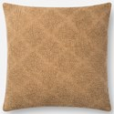 "ED Ellen DeGeneres Crafted by Loloi Woven  Pillows 18"" X 18"" Pillow Cover w/Poly - Item Number: PSETP4092CA00PIL1"