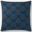 """ED Ellen DeGeneres Crafted by Loloi Woven  Pillows 18"""" X 18"""" Pillow Cover w/Poly - Item Number: PSETP4093NV00PIL1"""