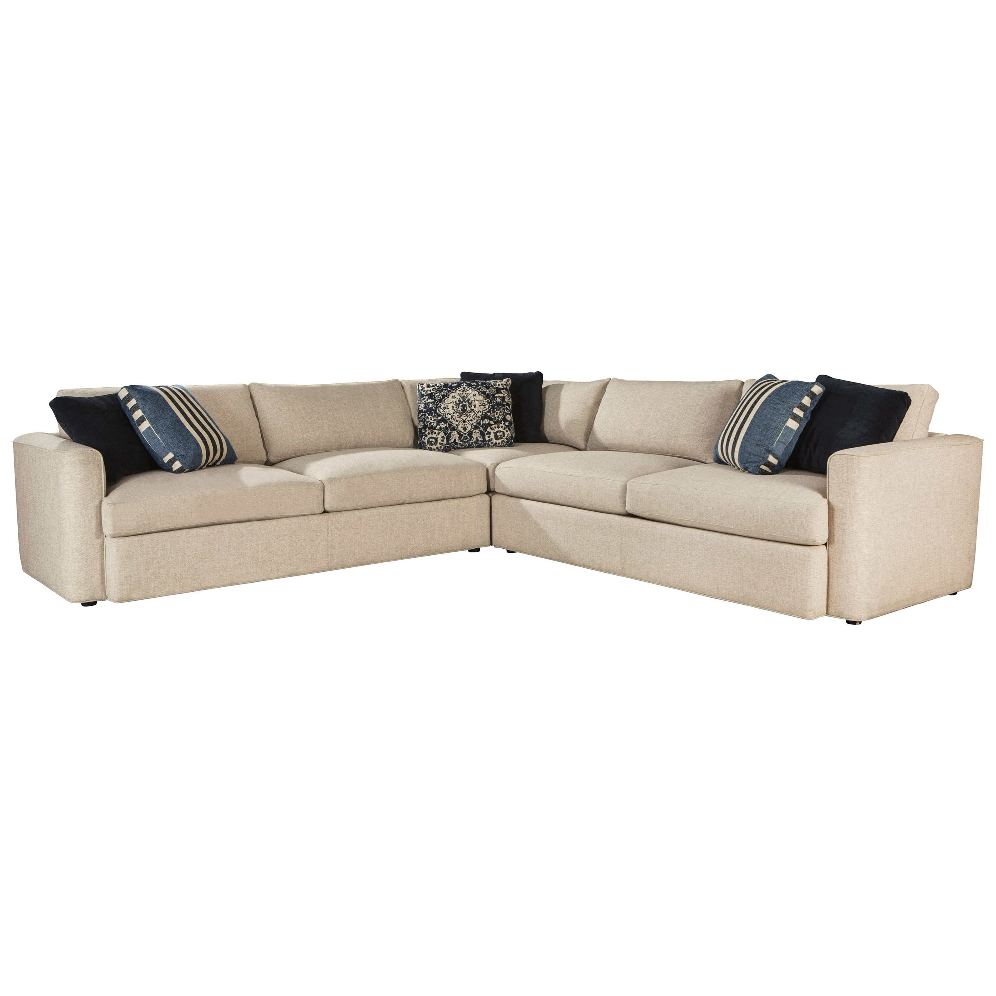 ED Ellen DeGeneres Crafted by Thomasville   Ladera Sectional - Item Number: 2650-L24+2650-C-28+2650-R24-1925-03