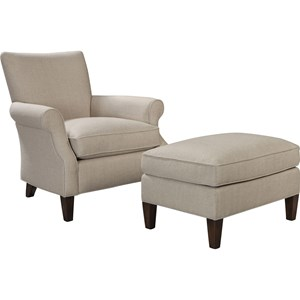 ED Ellen DeGeneres Crafted by Thomasville Ellen DeGeneres Westwood Chair and Ottoman Set
