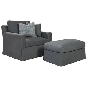 ED Ellen DeGeneres Crafted by Thomasville Ellen DeGeneres Eden Chair & Ottoman Set