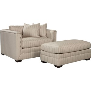 ED Ellen DeGeneres Crafted by Thomasville Ellen DeGeneres Montecito Chair and Ottoman